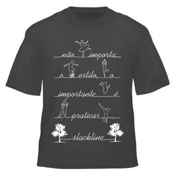 Camiseta Slackline – O Importante é Praticar Slackline
