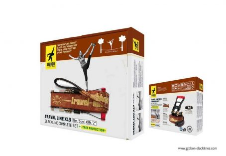 Kit Slackline Gibbon Travel Line X13 15 metros - Caixa